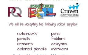 Collecting School Supplies for Hurricane Victims